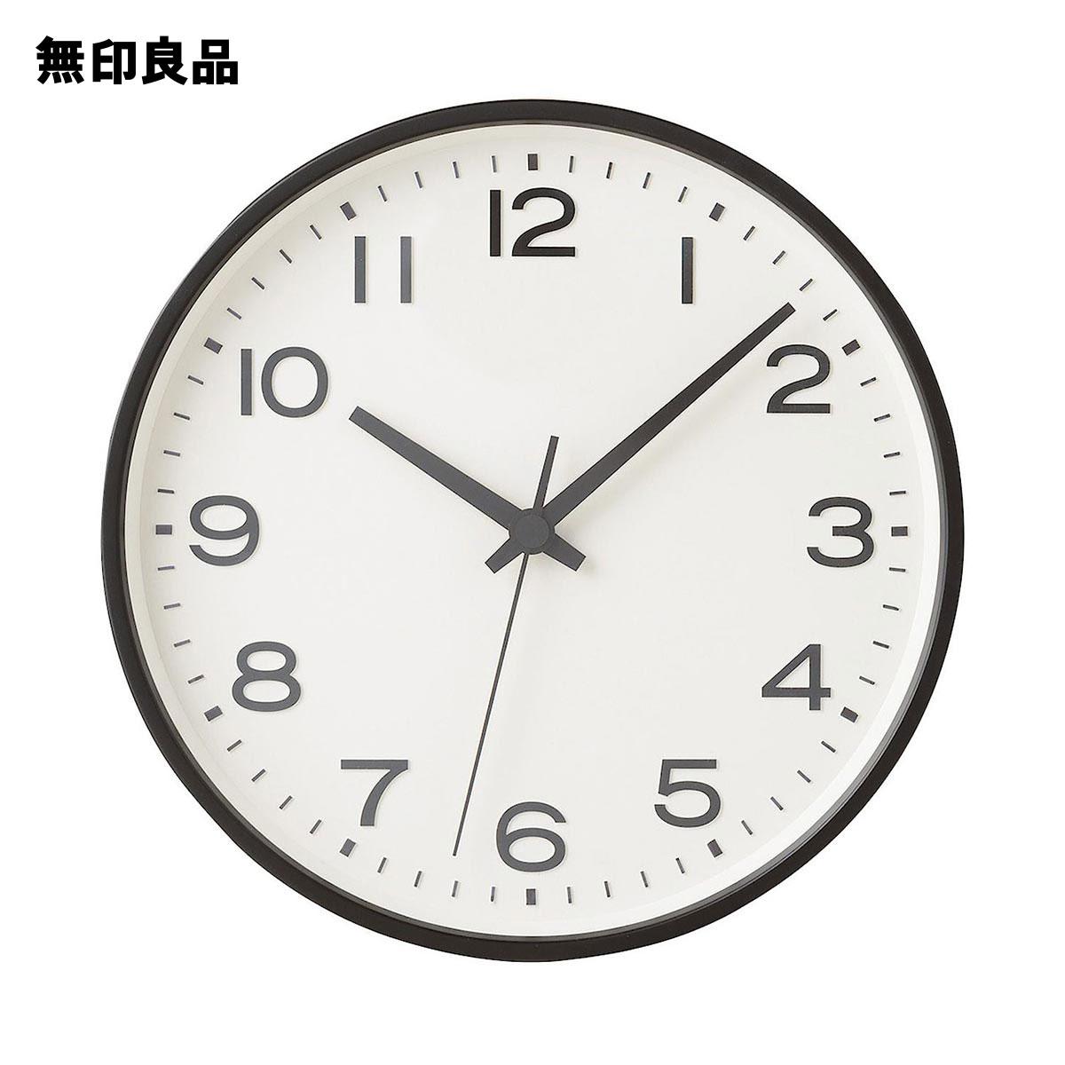 無印良品 公式 アナログ時計 ブラック 商い MJ-ACLBK2 海外輸入 大
