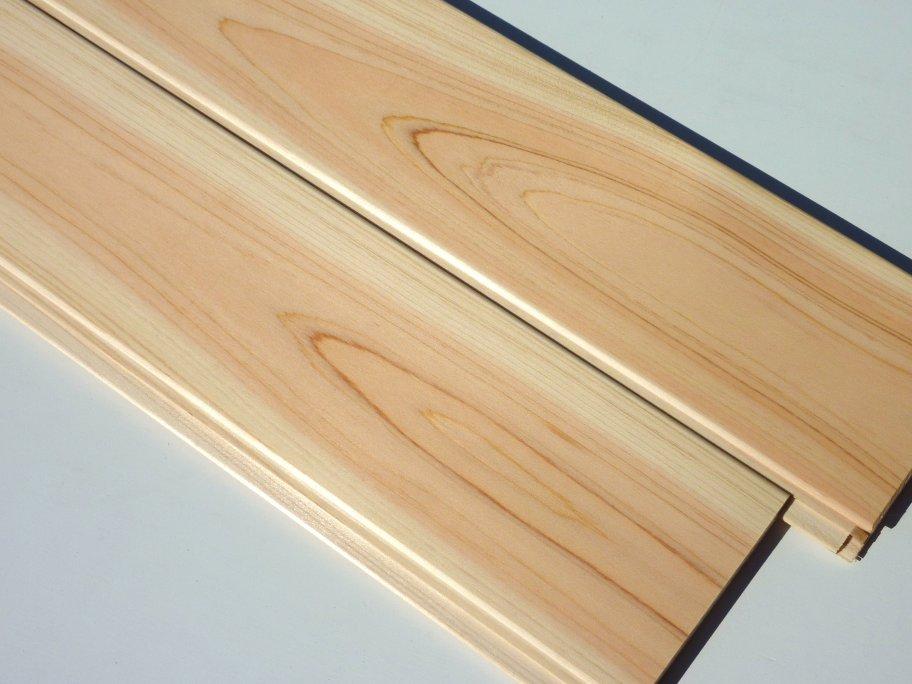 国産桧 無垢 羽目板 無節 1枚物 UV塗装品