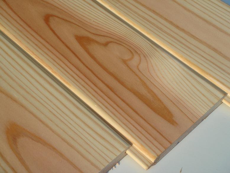 秋田杉 無垢 羽目板 1枚物 無節 源平 無塗装 本実目透し 長さ3640×巾120ミリ
