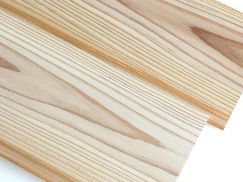 国産杉 無垢 羽目板 圧密加工 源平・節なし 1枚物 自然塗装 長さ2900ミリ品