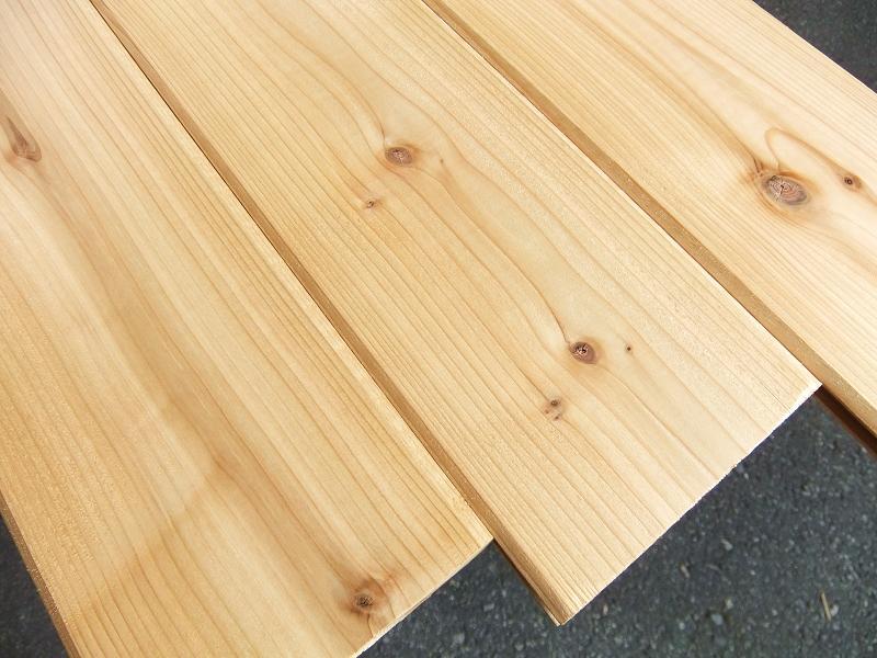 ウエスタンレッドシダー 無垢 羽目板 節有 1枚物 無塗装 長さ3660ミリ 巾127ミリ