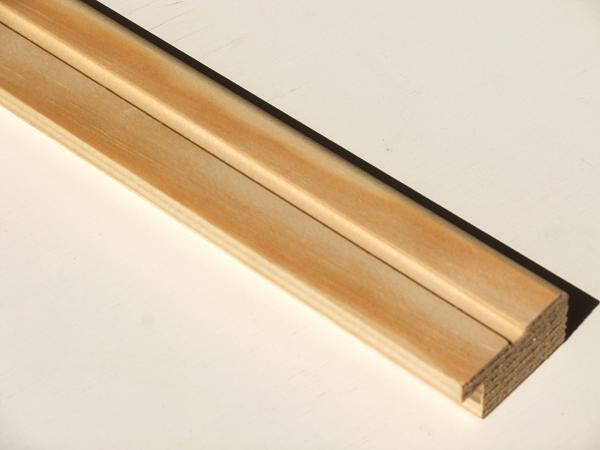 レッドパイン 無垢 見切り 無塗装 長さ3800ミリ品 10本入