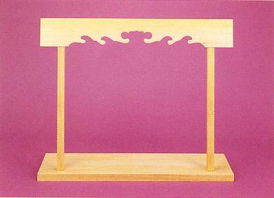 神棚セット 桧 突板貼り 巾1100×360×34ミリ