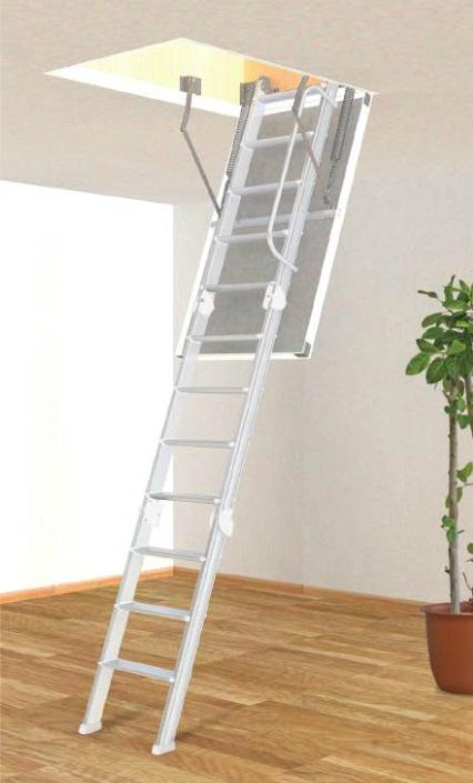 アルミ天井収納はしご 9尺用 (使用高2500~2700ミリ)