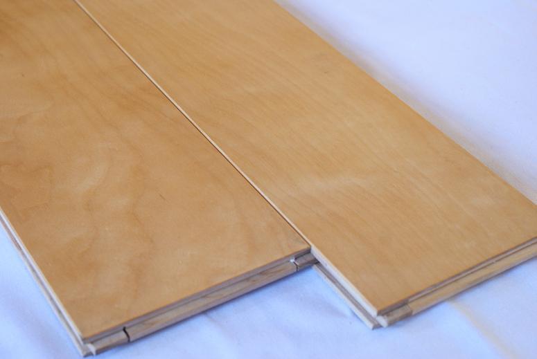 カバ 無垢 単板フローリング UV塗装 三層複合 130ワイド