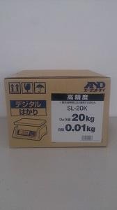 【送料無料】エー・アンド・デイデジタル上皿はかりSL-20K