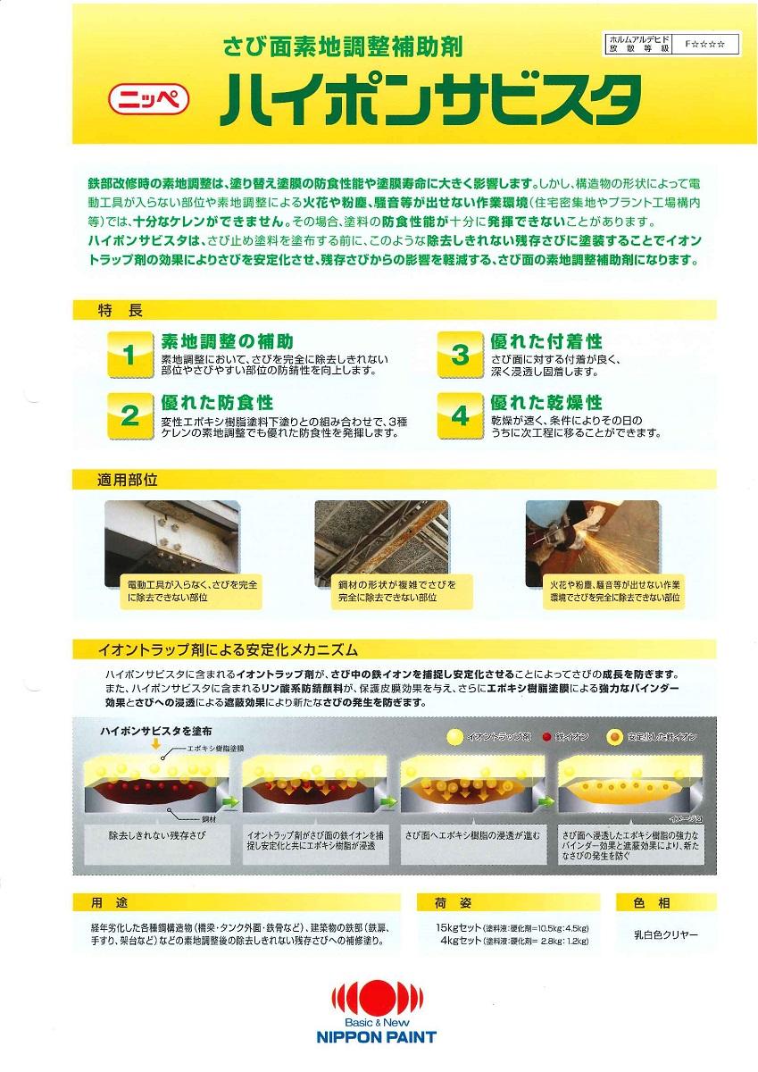 【送料無料 15kgセット】日本ペイントハイポンサビスタ 15kgセット, sunny days:a1cf2a12 --- sunward.msk.ru
