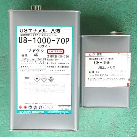 【送料無料】玄々化学U8エナメル ホワイトツヤケシ 30%5kgセット