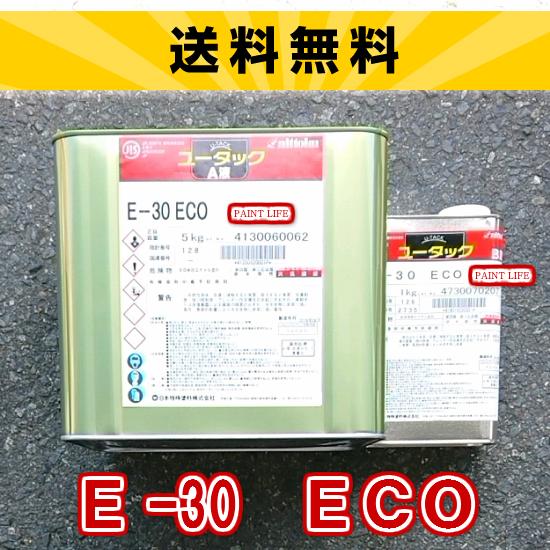 【送料無料】日本特殊塗料ユータックE-30 ECO標準色 6kgセット