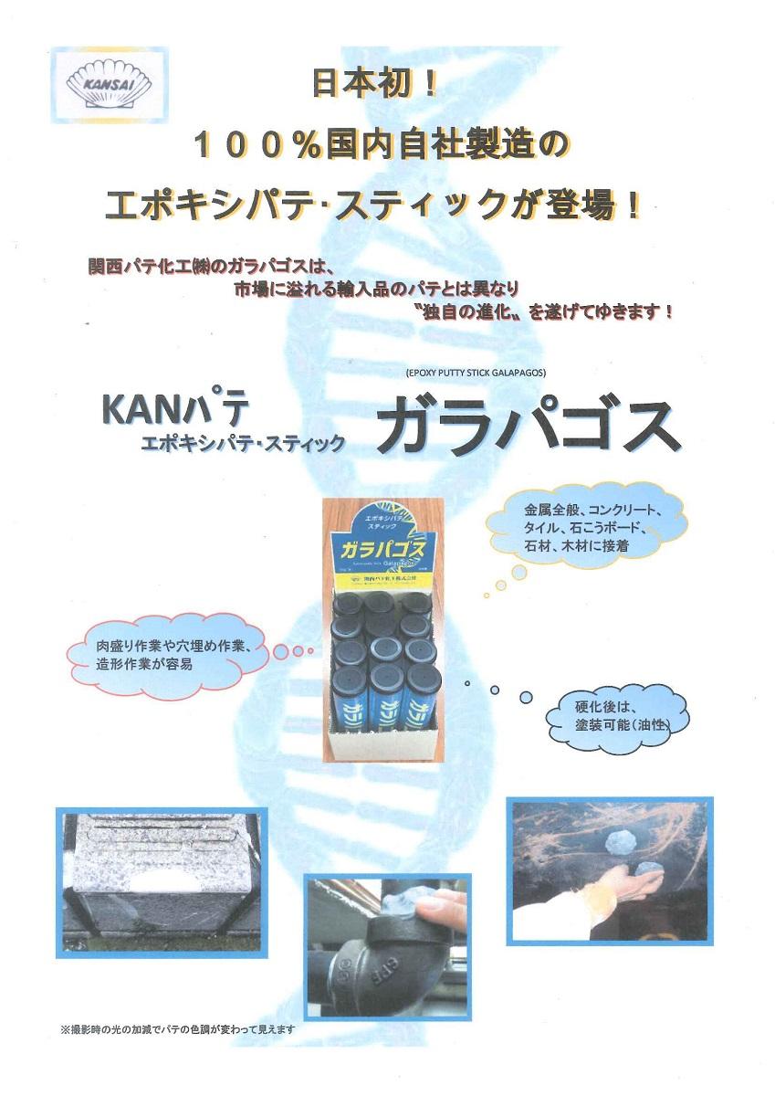 【送料無料】関西パテ化工ガラパゴス 1箱(60g×12ケ)