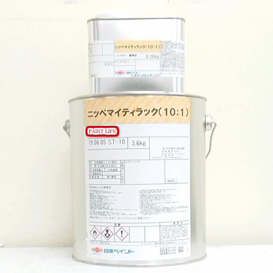 【送料無料】日本ペイントマイティラック(10:1)原色アイアンレッド 3.96kgセット