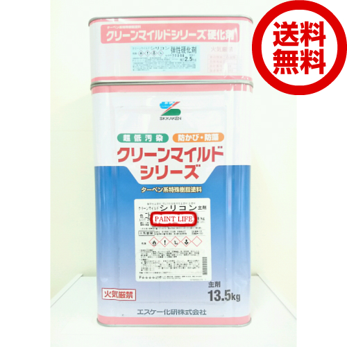 【送料無料】エスケー化研 クリーンマイルドシリコン 艶有り 白 15kgセット