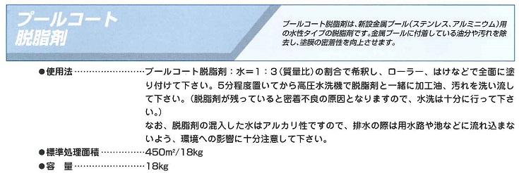【送料無料】大同塗料プールコート脱脂剤 18kg