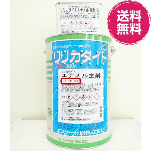 【送料無料】エスケー化研リリカタイトエナメルつや有り 黒 3.75kgセット