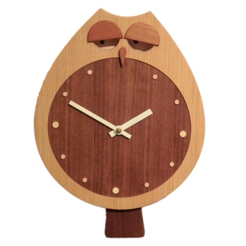 木の時計 フクロック