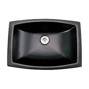 【Essence】洗面器Mレクタングル素[シロ] グラファイト