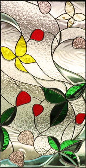 ステンドグラス ピュアグラス SH-A13 【三層ステンドグラス/窓/ガラス/ピュアグラス/ステンドグラス】