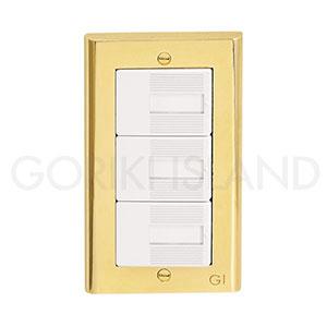 真鍮 おトク 金物 ゴールド おしゃれ スイッチカバー コンセント カバー 国内正規総代理店アイテム アンティーク インテリア PC 790201 スイッチプレート PVD 真鍮製 ゴーリキアイランド