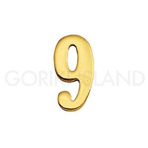 真鍮製切り文字 真鍮 いつでも送料無料 表札 英字 インテリア サイン おしゃれ アルファベット 価格 数字 切り文字 9 真鍮製 ブラスナンバー 30mm ゴーリキアイランド 820139
