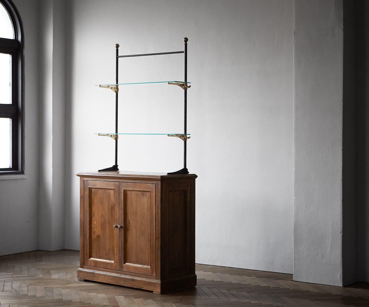 【無垢 シェルフ】旭川家具 ARTEM JAPAN(アルテムジャパン) Rugged(ラギット) Glass Cabinet(グラスキャビネット)