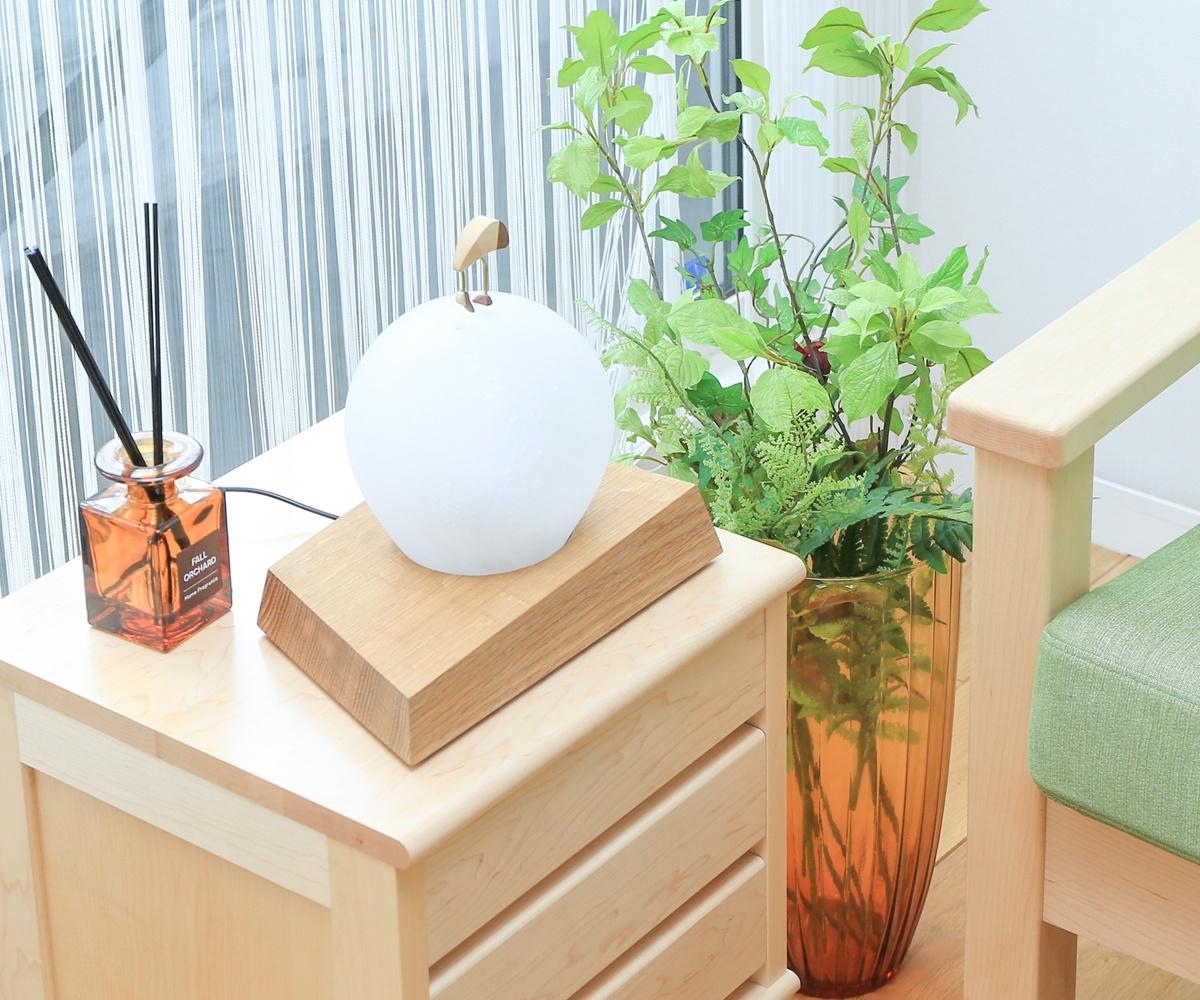 【デスクライト 木製】旭川クラフト 早見賢二 あかり 月の鳥 タンチョウ
