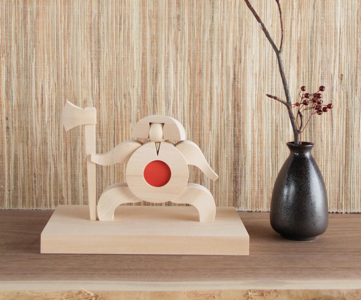 【五月人形 金太郎 木製 コンパクト】旭川クラフト T.MOTOI(ティー・モトイ) KINTARO(キンタロウ) MKI-02