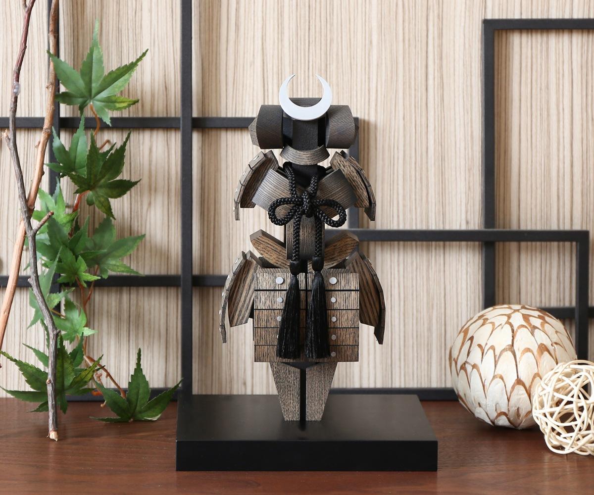【五月人形 兜 木製 コンパクト】旭川クラフト T.MOTOI(ティー・モトイ) KABUTO(カブト) MKA-06
