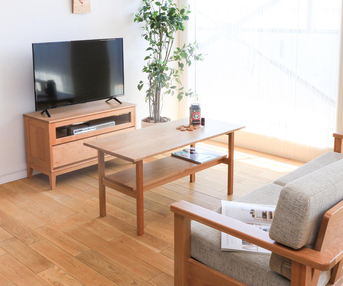 【無垢 リビングテーブル】旭川家具 MUKU工房オリジナル MUKU(ムク) センターテーブル