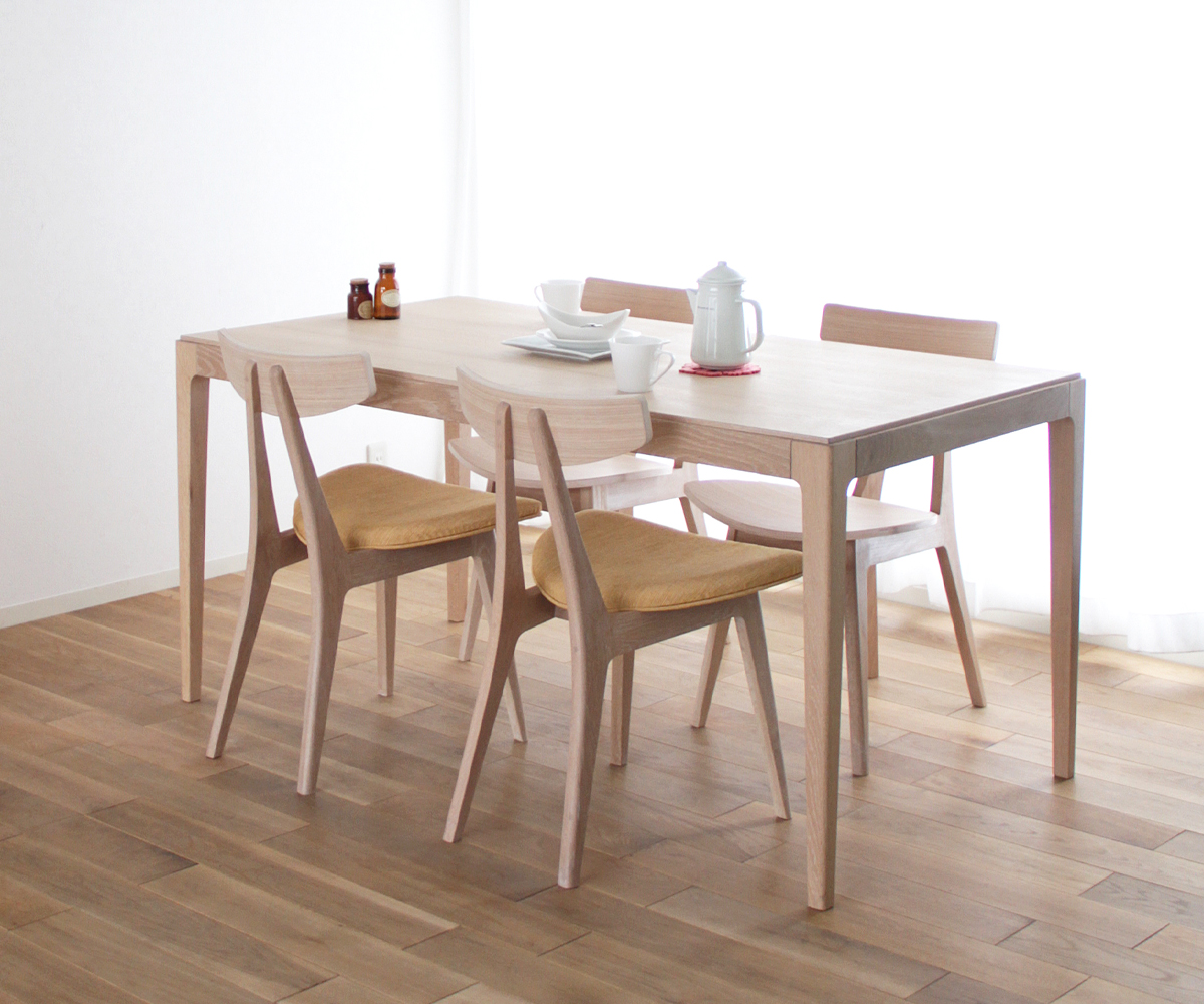 【天然木 ダイニングテーブル】旭川家具 大雪木工 Nordlys(ノールリス) ダイニングテーブル