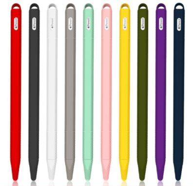 送料無料 選べる10色 推奨 Appleペンシルのカラフルカバー Apple Pencilカバー アップルペンシル 第二世代 出群 タッチペンカバー スマホ iPhone デスクワーク スマートフォン 仕事 Android タブレット スマートペン iPad