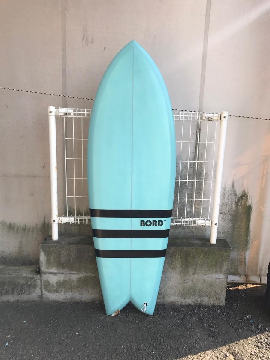 中古サーフボード/BORDサーフボード/5'4×?×?/フィッシュ/FCSクァッドフィン