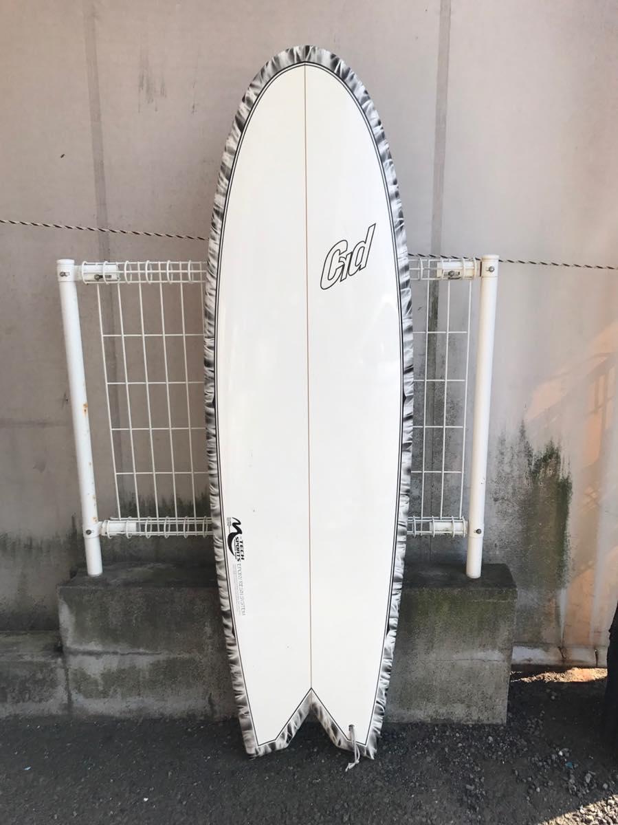 中古サーフボード/国産サーフボード/5'8×20'1/2×2'1/2 /アークスワローテール/FCSクァッドフィン