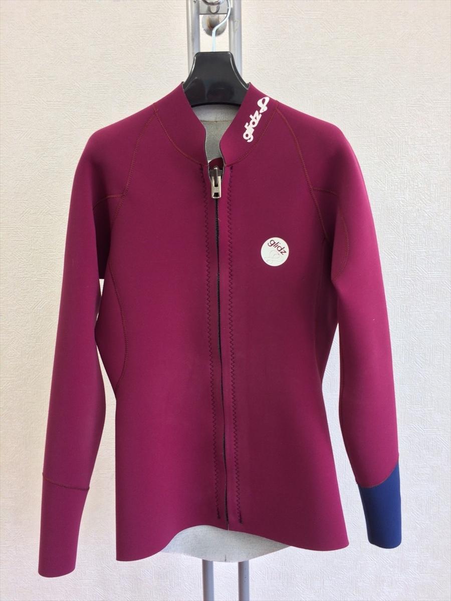 中古ウエットスーツ/フロントオープンジップ・長袖ジャケット/メンズMLサイズ¥20.000→¥15.000
