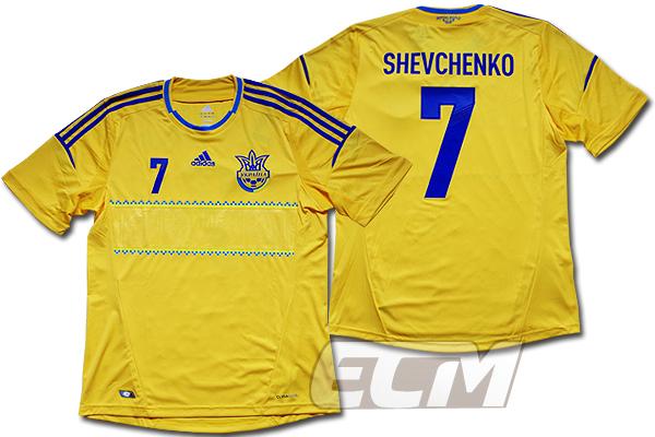 【予約ECM32】【激レア】ウクライナ代表 ホーム 半袖 7番シェフチェンコ【2012/ユニフォーム/UKRAINE/サッカー/ユーロ2012】0825