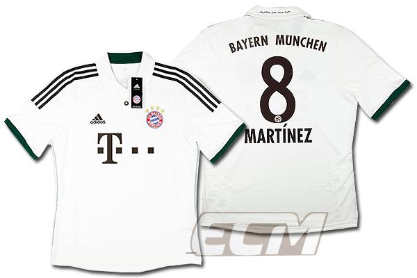 【予約ECM32】バイエルン・ミュンヘン アウェイ 半袖 8番ハビ・マルティネス【13-14/イブンデスリーガ/Bayern Munchen/サッカー/ユニフォーム】