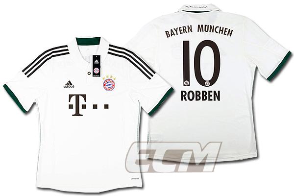 【予約ECM32】バイエルン・ミュンヘン アウェイ 半袖 10番ロッベン【13-14/イブンデスリーガ/Bayern Munchen/サッカー/ユニフォーム】