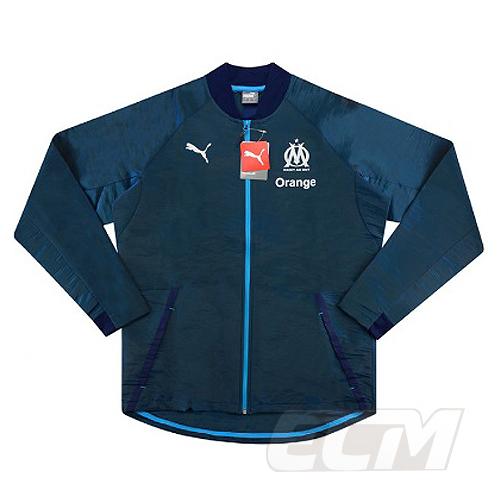 【予約ECM32】【SALE】【国内未発売】オリンピック・マルセイユ トラックジャケット ブルー【18-19/Marseille/サッカー/リーグアン/トレーニングウェア】330
