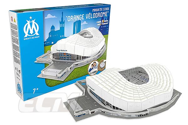 LED 国内未発売 返品送料無料 オリンピック マルセイユ オフィシャルグッズ ヴェロドローム Olympique 3Dパズル Marseille 卓越 LEDバージョン フランスリーグ サッカー