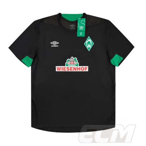 18-19 サッカー ブンデスリーガ 定番スタイル Werder Bremen トレーニング 予約ECM32 ブレーメン トレーニングシャツ 国内未発売 SALE ヴェルダー 人気ブランド ブラック