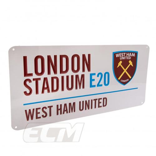 ECM25 国内未発売 ウェストハム SALE ストリートサイン