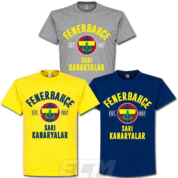 4年保証 サッカー トルコリーグ Fenerbache 予約RET05 国内未発売 Establishシリーズ RE-TAKE 予約 Tシャツ フェネルバフチェ ネコポス対応可能