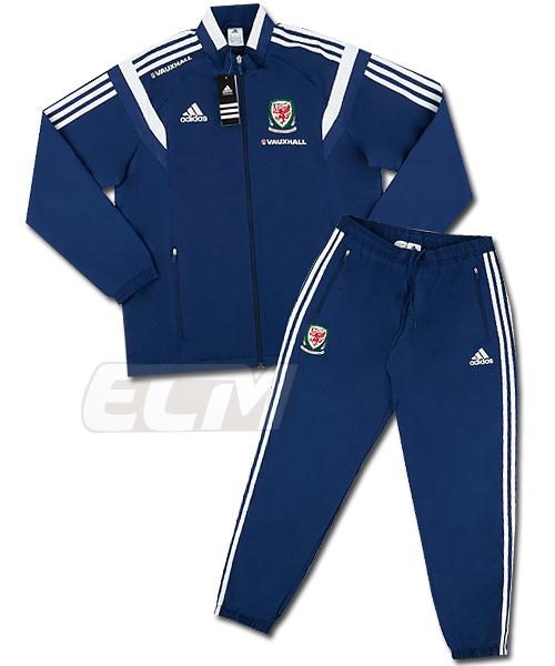 14-15 ワールドカップ サッカー WALES トレーニング 予約ECM32 SALE 国内未発売 トラックスーツ ネイビー プレイヤーズモデル 爆売りセール開催中 ウェールズ代表 豪華な