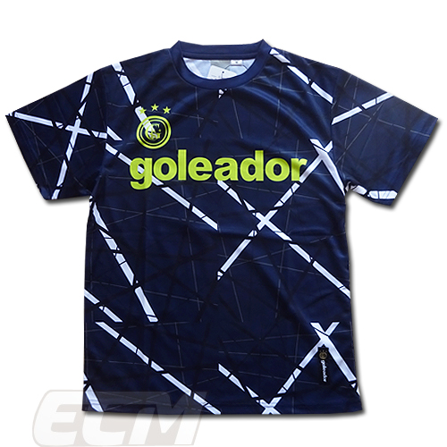 ゴレアドール フットサル トレーニング サッカー 人気シリーズの新作 最新 特売 Goleador プラクティスTシャツ ダークブルー G440-2 幾何学模様 ネコポス対応可能