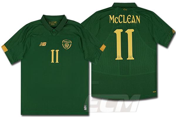 19-20 ワールドカップ 期間限定お試し価格 サッカー Irland ユニフォーム 予約ECM32 国内未発売 新品 SALE 11番 プレイヤーズモデル 半袖 ホーム アイルランド代表 マクレーン