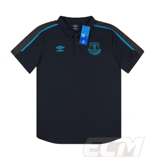新作 大人気 返品送料無料 予約ECM32 SALE 国内未発売 エバートン トレーニングポロシャツ ブラック POLO サッカー 330 プレミアリーグ Everton 19-20