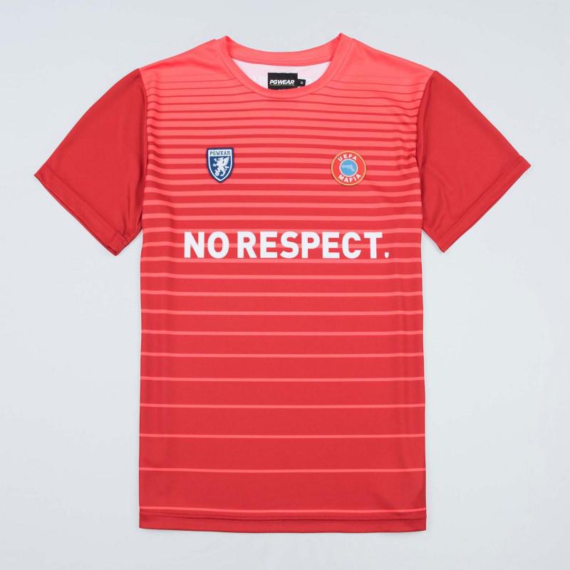 【予約PGW20】【国内未発売】PGWEAR No Respect サッカージャージ レッド【サッカー/サポーター/応援Tシャツ/ウルトラス】TFO01 ネコポス対応可能