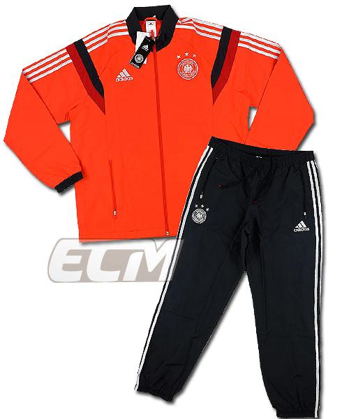【予約ECM32】ドイツ代表 プレゼンテーショントラックスーツ レッド x ブラック【14-15/ワールドカップ/サッカー/トレーニングウェア】330