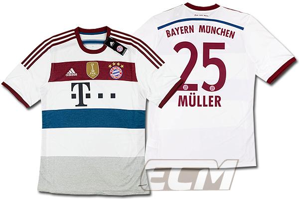 【予約ECM32】バイエルンミュンヘン アウェイ 半袖 25番ミュラー【14-15/ブンデスリーガ/Muller/サッカー/ユニフォーム】