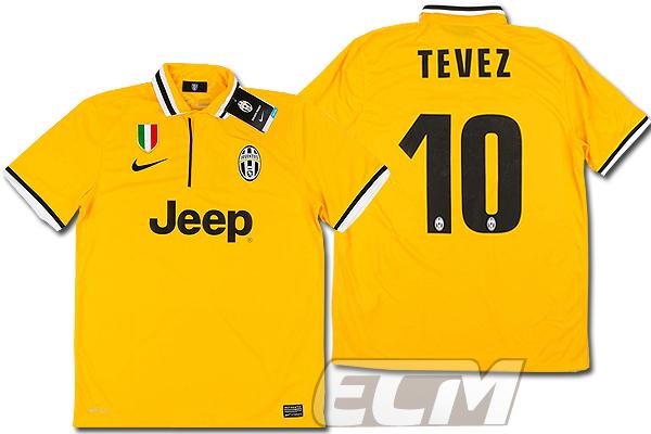 【予約ECM32】ユベントス アウェイ 半袖 10番テベス【13-14/イタリア・セリエA/Juventus/Pirlo/サッカー/ユニフォーム】