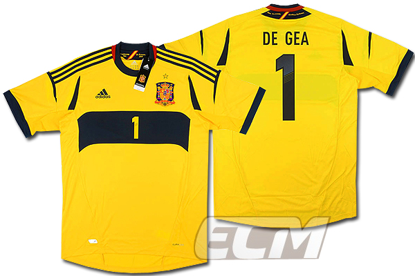 【予約ECM32】スペイン代表 GK ホーム 半袖 1番 デ・ヘア【11-13/DE GEA/サッカー/ユニフォーム/マンチェスターUTD】
